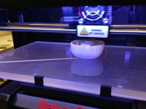 3-D printing in action. Neville's shot glass creation.